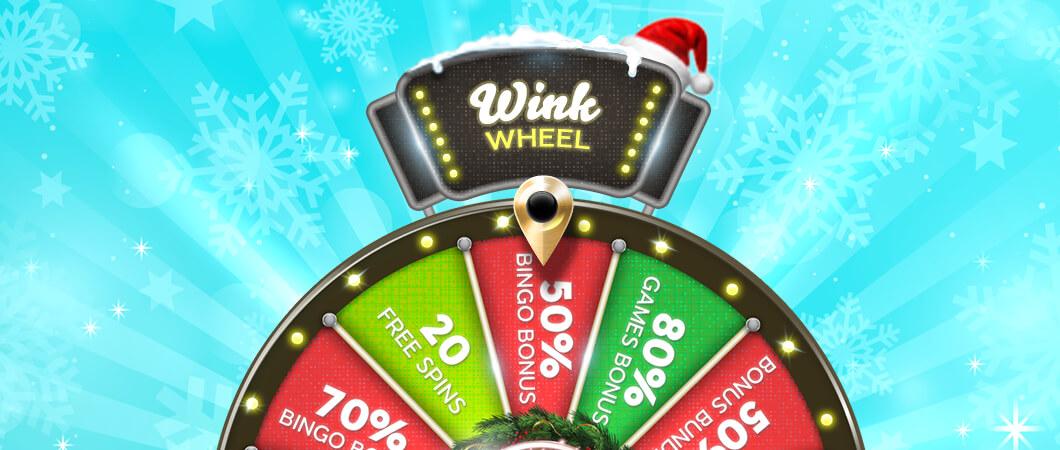 Christmas bingo wheel
