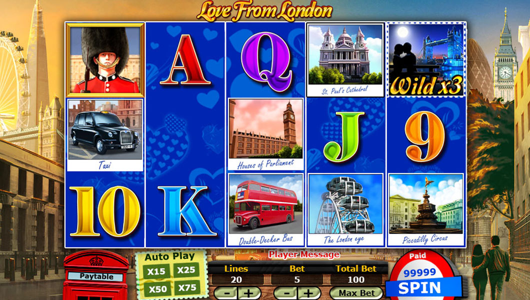 love from london online slot screenshot