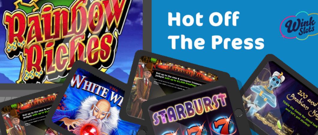 hot off the press wink slots new slots