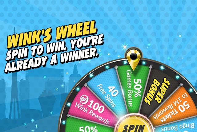 Deposit Min 10 Get Up To 200 In Bonus Max Bingo Games 100 Wink Rewards WR Free Spins FS 40 Or 96 Tickets